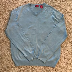 IZOD men's light blue V- neck sweater size M